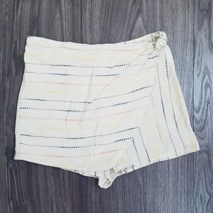 Urban Outfitters Striped Wrap Skort Short